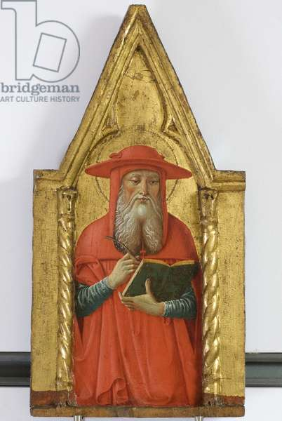 Polyptych of the Sylvestrines (detail) - Saint Jerome