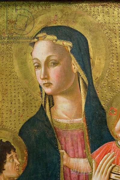 Madonna with Child Jesus and Saint Giovannino, c.1440-1470 (tempera on table)
