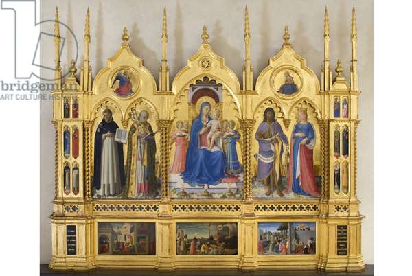 Madonna with Child, Angels and Saints, Guidalotti Polyptych, c.1447 (tempera & oil on board)