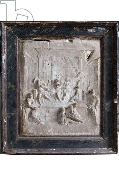 Jesus Christ scourged at the column, c.1500-1600 (stucco)