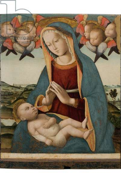 Madonna and Child Jesus, c.1500-1516 (tempera and oil on board)