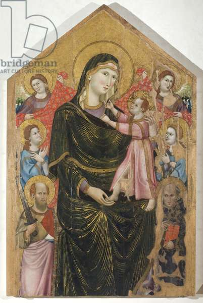 Madonna and Child with Saints and Angels, 1310-15 (tempera on board)