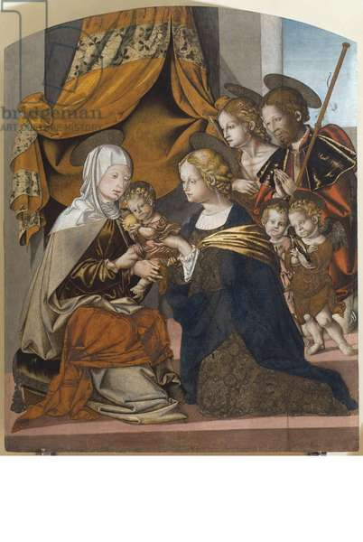 Madonna with Child and other characters