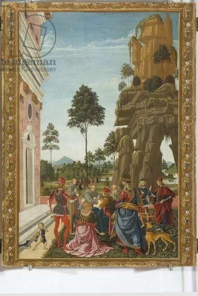 Saint Bernardino resurrecting a dead man, 1473 (tempera on board)