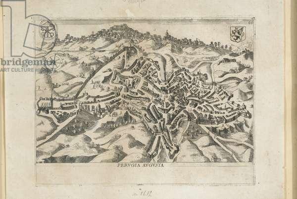 Plan of Perugia, c.1642 (graving graving)