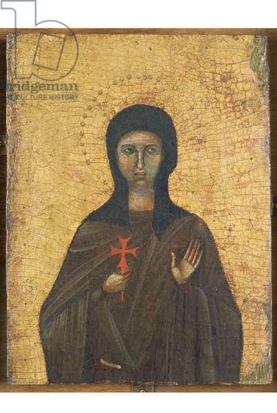 Saint Clare of Assisi, c.1270 (tempera on panel)