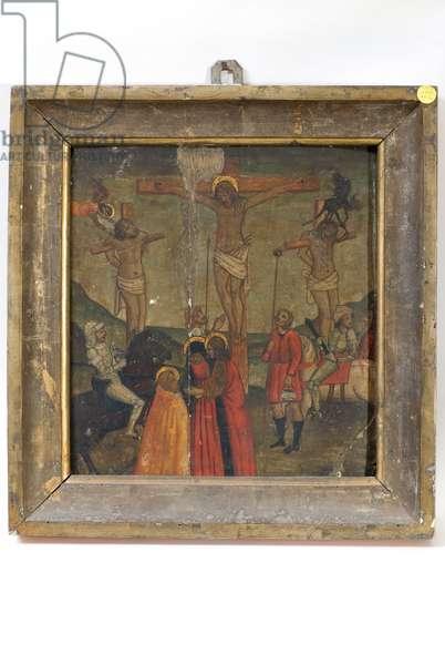 Crucifixion of Jesus Christ, c.1500-1525 (gouache on table)
