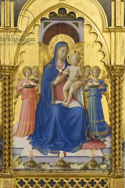 Madonna with Child and Angels, detail of Madonna with Child, Angels and Saints, Guidalotti Polyptych, c.1447 (tempera & oil on board)