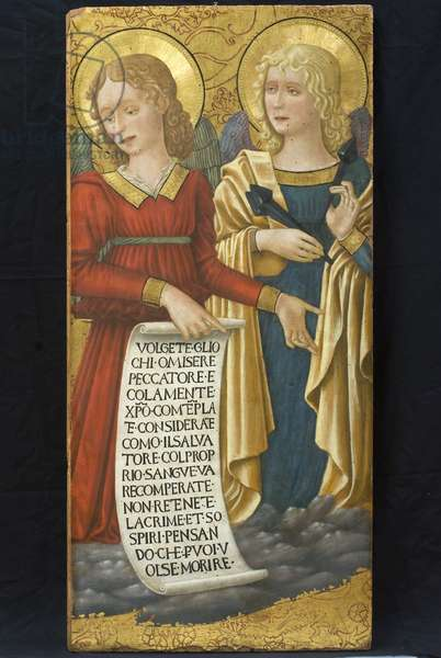 Angels with instruments of the Passion, 1470-75 (Table, Tempera painting)