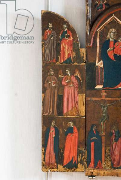 St. Peter and St. Paul, St. John Gualberto and an Archangel, two holy martyrs, c.1290-1300 (tempera on table)