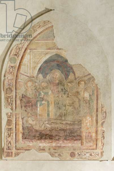 Dormitio virginis, c.1350 (fresco detached and transported on canvas)