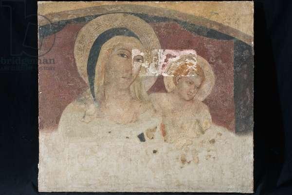 Madonna with Child Jesus, c.1340-1360 (staccato fresco)