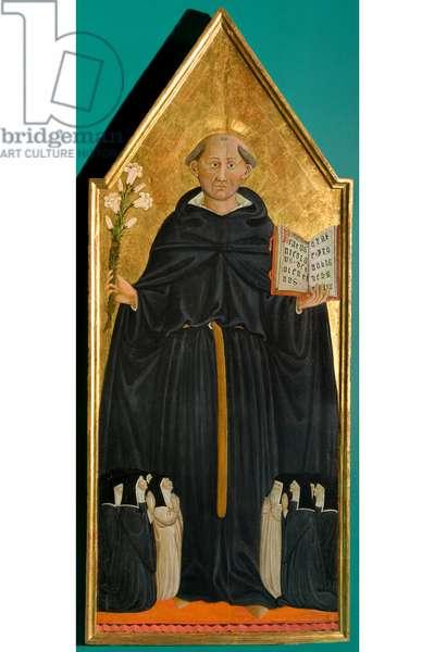 Saint Nicholas of Tolentino venerated by nine Augustinian nuns, c.1474-1497 (tempera on canvas)