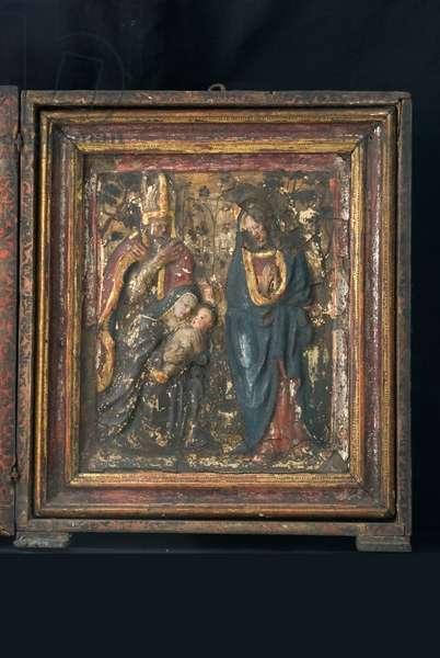 Madonna with Child Jesus and Saints, c.1520-1550 (golden papier-mâché, painted)