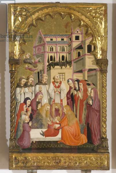 Stories from the life of St. Anthony, 1455 (Table, Tempera painting)