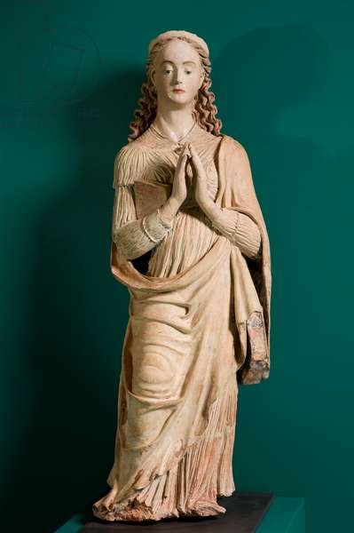 Saint Catherine of Alexandria, c.1540-1550 (painted terracotta and wood)