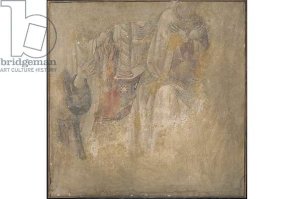 Figures in prayer (plaster, fresh painting)