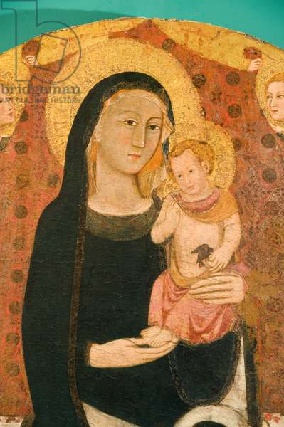 Madonna with Infant Jesus Enthroned, c.1330-1350 (Temper on Table)
