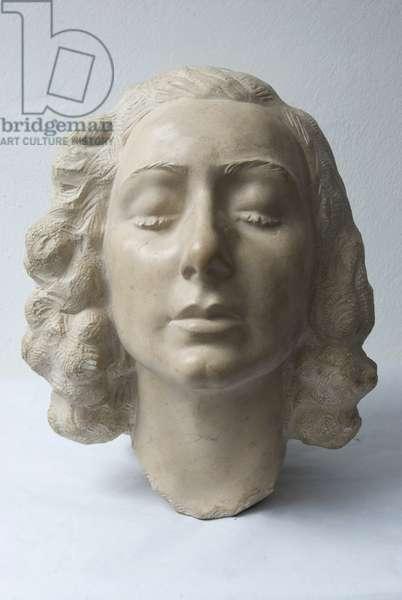 Female head, c.1935-1940 (sculpted marble)