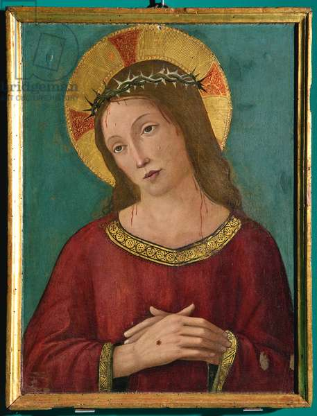 Jesus Christ crowned with thorns, c.1480-1510 (tempera on panel)
