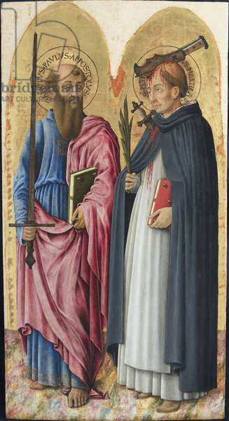 St. Paul and St. Peter the martyr, c.1447-1450 (tempera and oil on board)