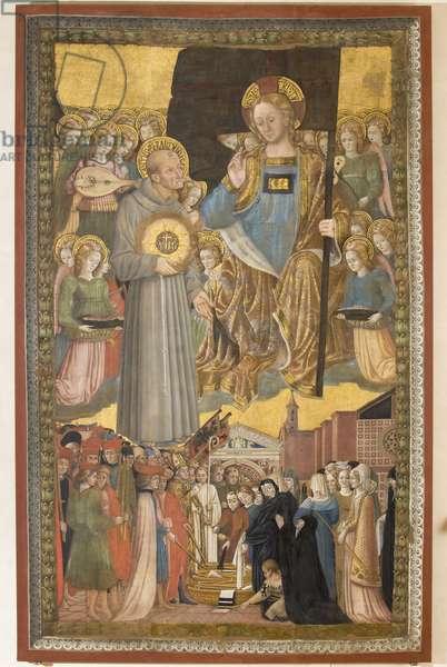 Saint Bernardino recommends Perugia to Christ