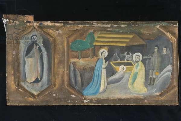Adoration of the Magi; Nativity of Jesus Christ, c.1900-1960 (tempera on table)