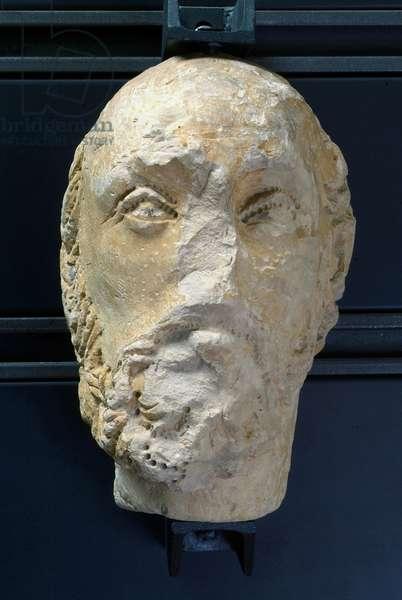 Manly head, c.1473-1476 (carved caciolfa stone)