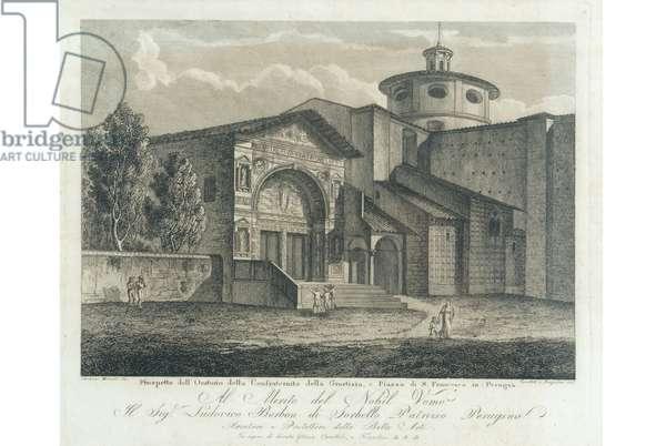View of San Bernardino in Perugia, c.1900-1940 (engraving on copper)