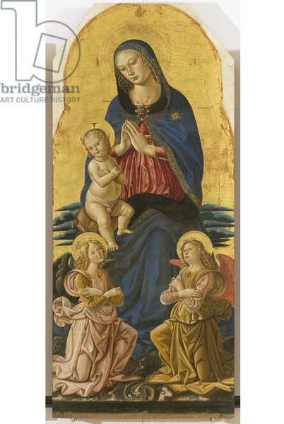 Polyptych of the Sylvestrines (detail) - Madonna with Child and Angels