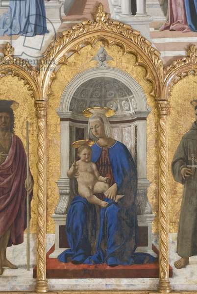 Madonna with Child, compartment of the Polyptych of Perugia or Polyptych of Saint Anthony, 1468-70 (oil on board)
