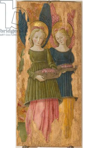 Angels bidding trays with roses, c.1465-1466 (gouache on board)