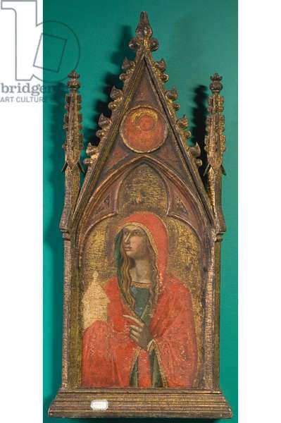 St Mary Magdalene, c.1310-1340 (gouache on board)
