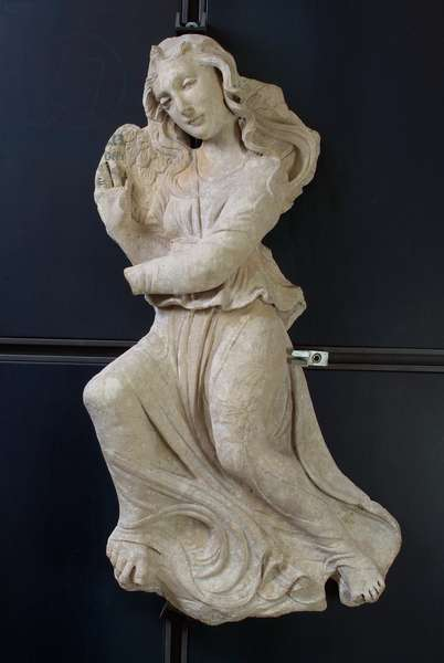 Angel, Facade Majesty of the Times (limestone, sculpture)