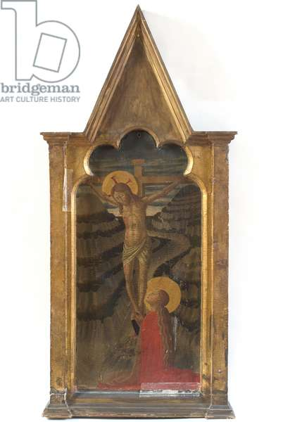 Jesus Christ crucified and Saint Mary Magdalene, c.1450-1475 (gouache on table)