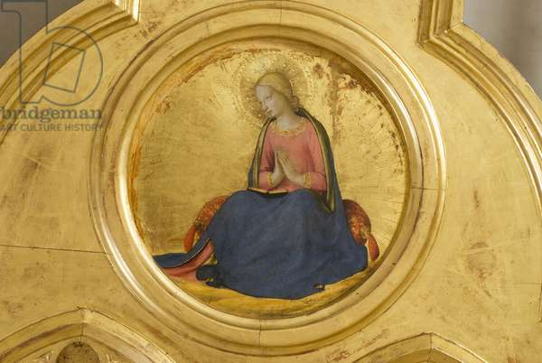 Virgin Annunciate, detail of Madonna with Child, Angels and Saints, Guidalotti Polyptych, c.1447 (tempera & oil on board)