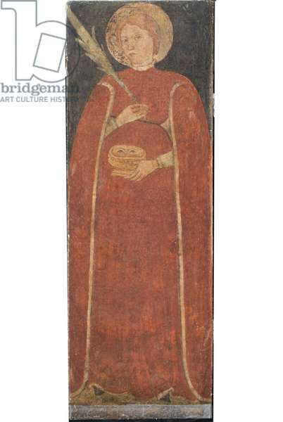 Saint Lucia, c.1410-1420 (staccato fresco)