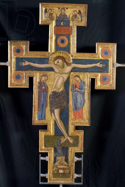 Cross, painted on two sides, 1260-80 (tempera on board)