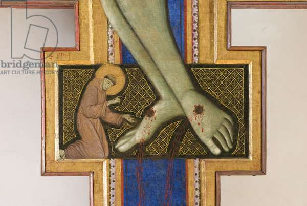 Christ crucified with Madonna and Saints, detail, c.1272 (oil and tempera on panel)