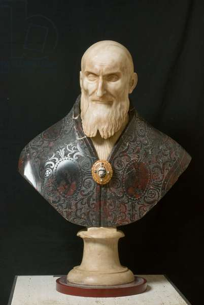 Saint Pius V, c.1575-1589 (sculpted marble)