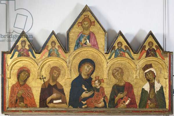 Madonna with Child and Saints, 1291 (tempera on panel)