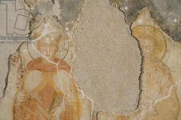 Saint Francis of Assisi, Saint Ludwig of Toulouse, c.1340-1360 (fresco)