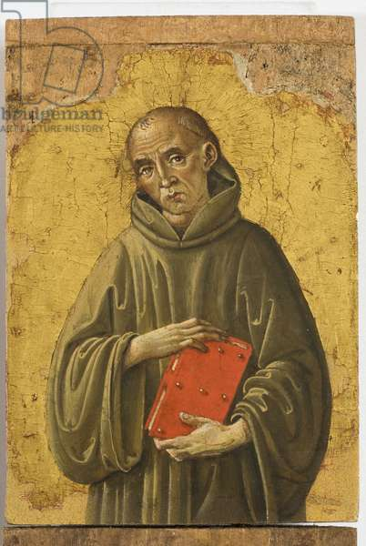 Polyptych of the Sylvestrines (detail) - monk