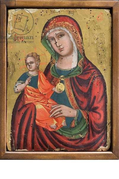 Madonna and Child Jesus, c.1550-1600 (tempera on panel)