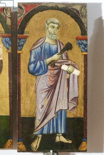 Saint Peter, detail of Saint Francis, Saint Peter and Saint Matthew, 1262-72 (tempera on panel)