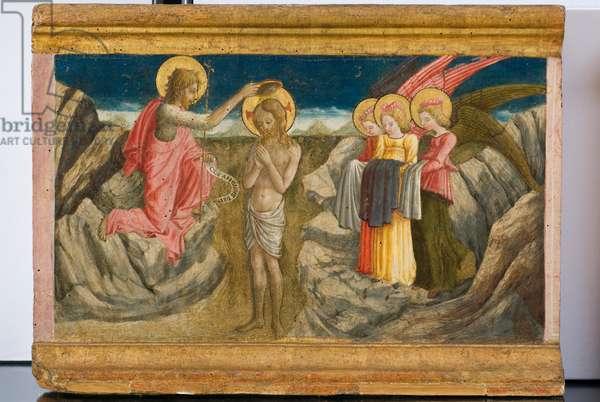 Baptism of Jesus Christ, c.1465-1466 (gouache on table)