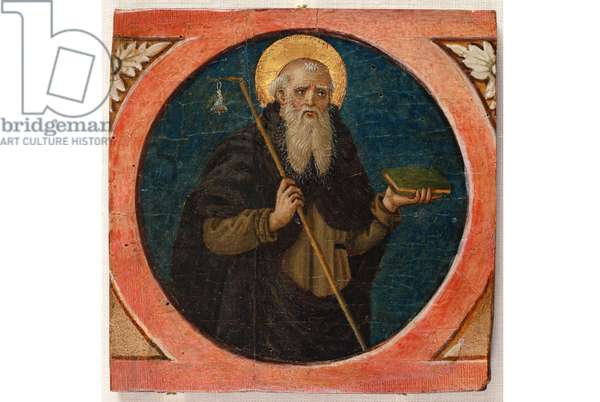 Saint Anthony the Abbot, 1480-90 (Table, Tempera painting)