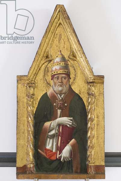 Polyptych of the Sylvestrines (detail) - Saint Gregory
