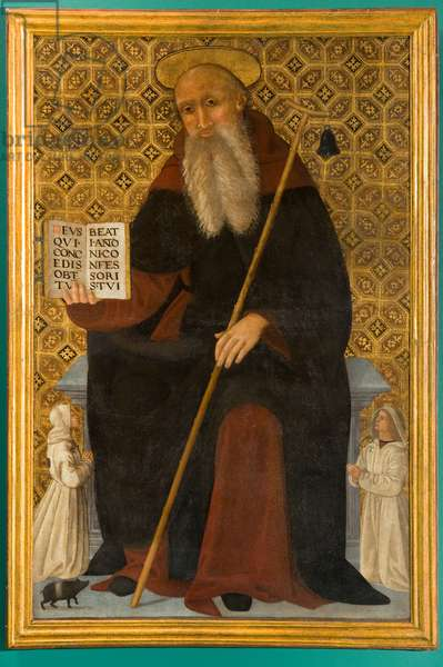 St. Anthony Abbot, 1512 (oil on canvas)