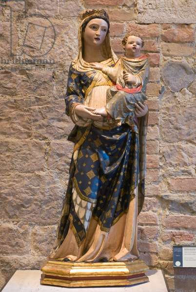 Madonna with Child Jesus, c.1320-1340 (carved wood, painted)